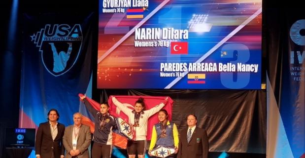 Milli halterciden dünya rekoruyla 3 altın madalya