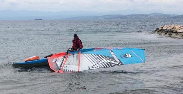45 yaşındaki Norveçli, sörf tahtasıyla Sinop'a ulaştı