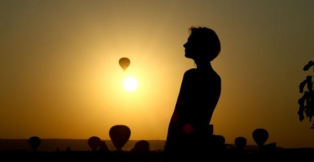 Kapadokya'da güneşin görsel şöleni
