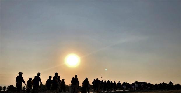 Pamukkale'de gün batımı büyük ilgi çekiyor