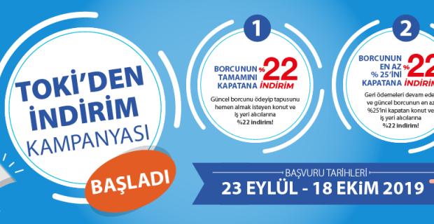 TOKİ'nin indirim kampanyası başladı: Son başvuru 18 Ekim 2019