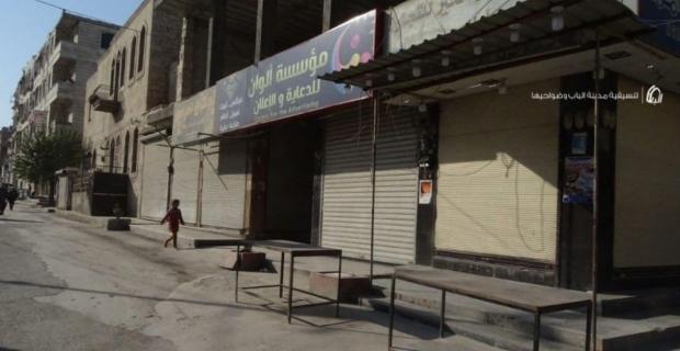 El Bab'da teröriste idam cezası isteyen halk sokağa çıkmadı