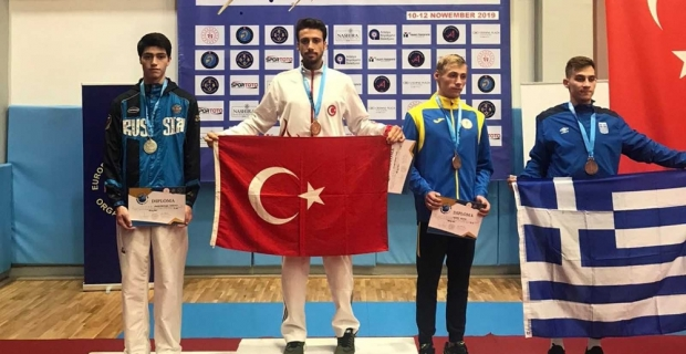 İşitme engelli milli sporcu Ahmet Hakan Tuna, Avrupa şampiyonu oldu