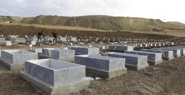 Muş'ta 2 bin 128 mezarın nakil işlemi başlatıldı
