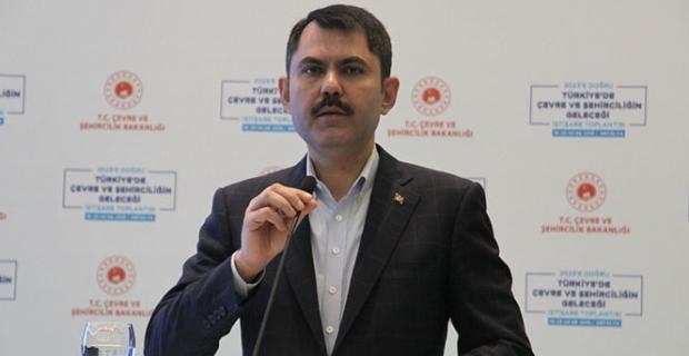 """Bakan Kurum: """"Kanal İstanbul projesi Montrö'nün dışında bir projedir"""""""
