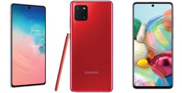 Samsung'un yeni akıllı telefonları Galaxy S10 Lite, Galaxy Note10 Lite ve Galaxy A71 satışa çıktı