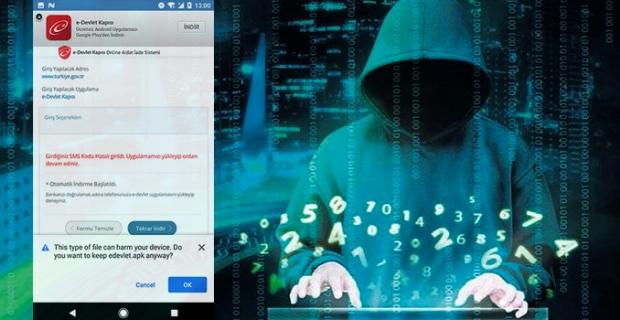 Siber suçlular sahte e-devlet uygulamasıyla Türkiye'de kullanıcıları hedef alıyor