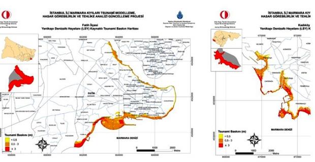 İstanbul'un tsunamiden etkilenecek tüm ilçeleri için ayrı ayrı raporlar hazırlandı