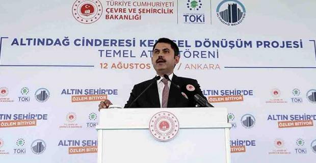 Ankara Altındağ'da  451 konutun Temel Atma Töreni gerçekleştirildi