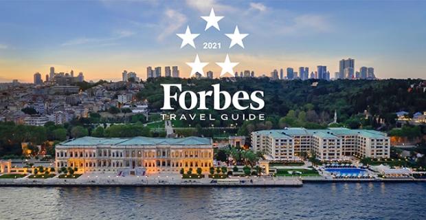 """Çırağan Sarayı'na dünyadaki en yüksek skorlardan biri ile Forbes Travel Guide'dan """"Beş Yıldız'' verildi"""