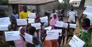 Afrikalı çocuklardan Cumhurbaşkanı Erdoğan'a sevgi mesajı