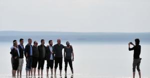 Türkiye'nin beyaz cenneti Tuz Gölü'ne yoğun ilgi