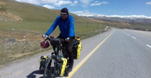 58 yaşında bisikletle Türkiye'yi turluyor