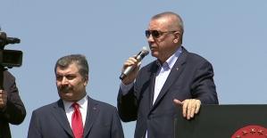 Cumhurbaşkanı Erdoğan: Bize Mursi'yi hatırlatanlarla yarışıyoruz