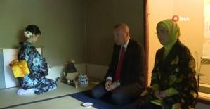 Erdoğan, Japonya'da çay seremonisine katıldı