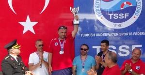 Zıpkınla Balık Avı Türkiye şampiyonası Bartın'da yapıldı
