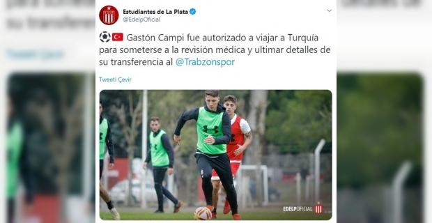 Gaston Campi Trabzon'a geliyor