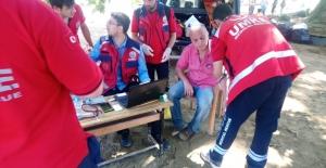 Selin vurduğu köylerde 74 afetzedeye sağlık hizmeti verildi