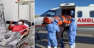 İsveç'te koronavirüs hastası Türk vatandaşı Türkiye'ye getirilip tedavi altına alındı