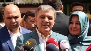 Abdullah Gül'e 'oyunun rengi' soruldu