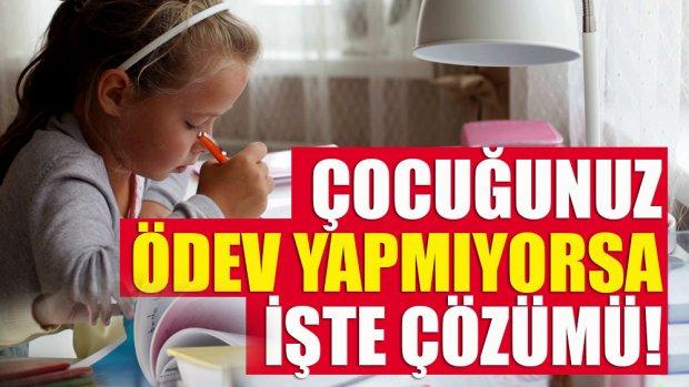 Çocuğa ödev yapma sorumluluğu verin!