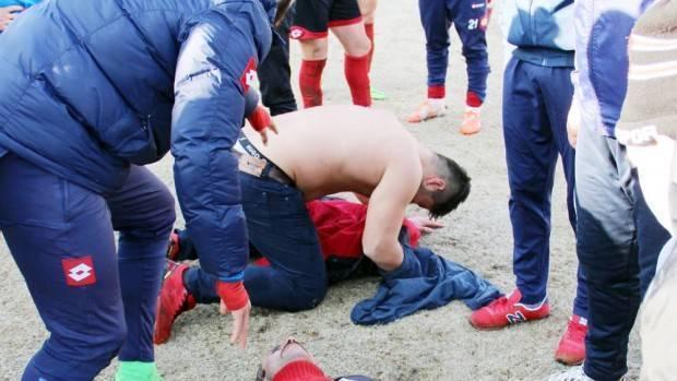 Amatör lig maçında kavga