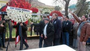 Şehit yakınları CHP çelengini istemedi